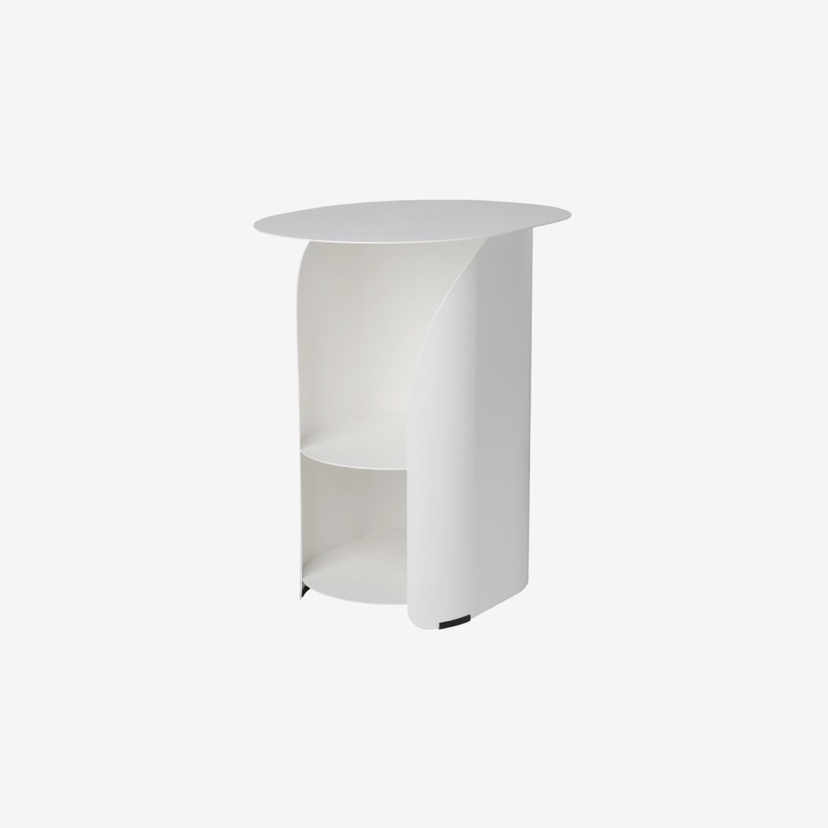 Curve Side Table_White