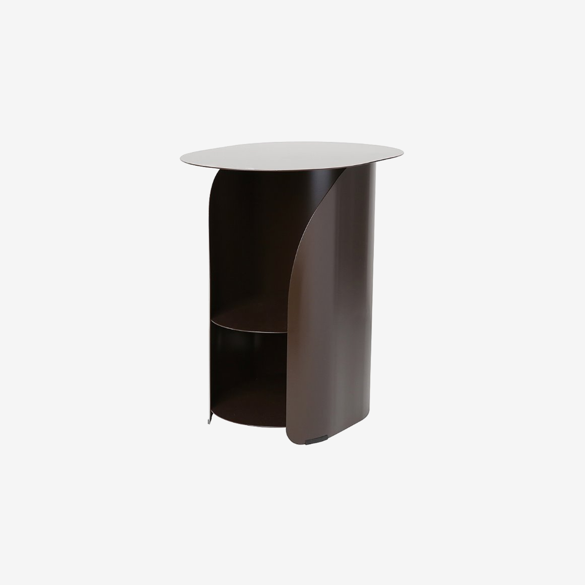 Curve Side Table_Chestnut Brown
