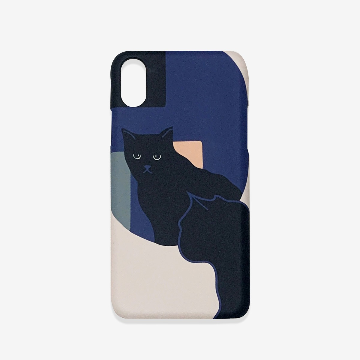 kitty in the mirror phone case - hard