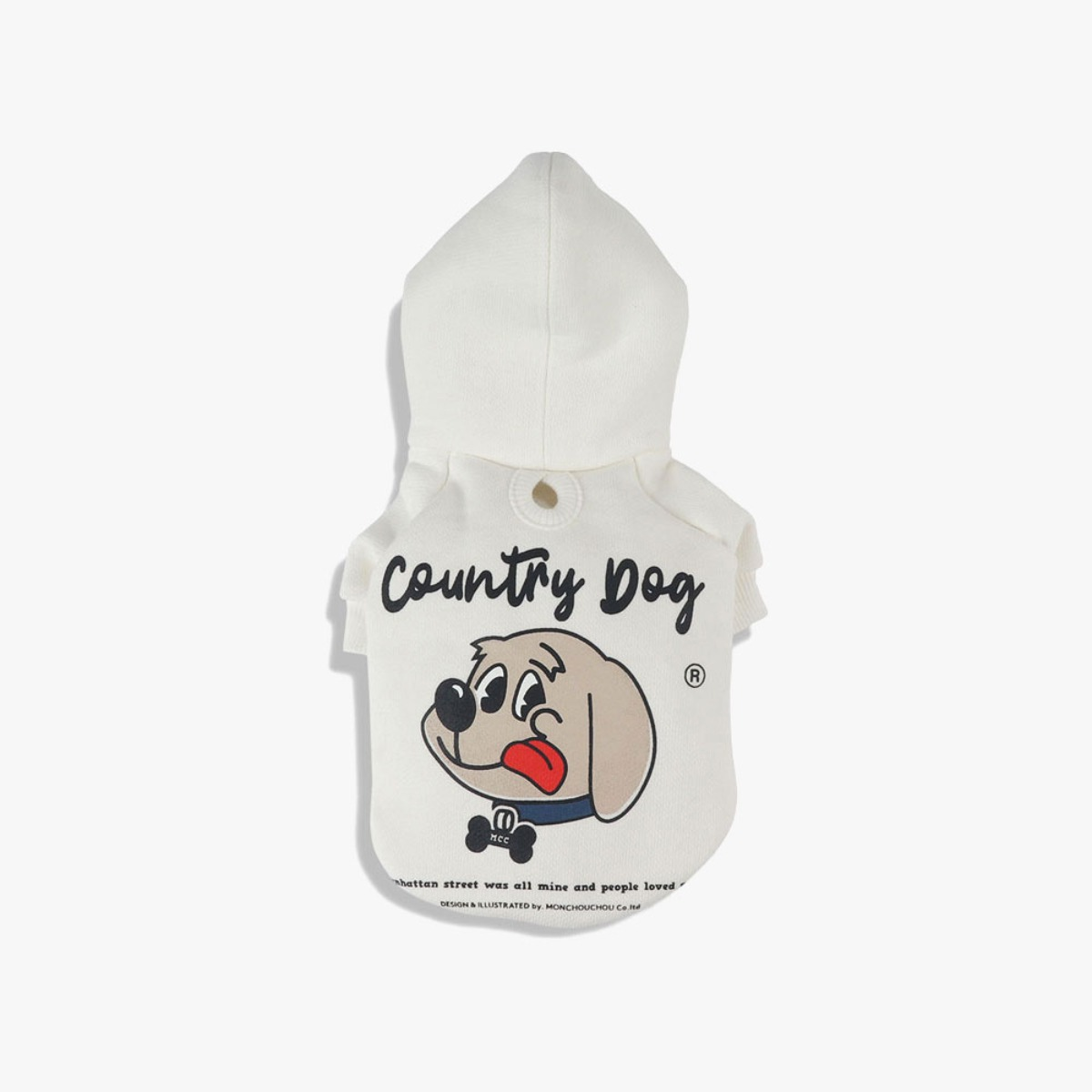 MONCHOUCHOU Country Dog Hoody For Dog White