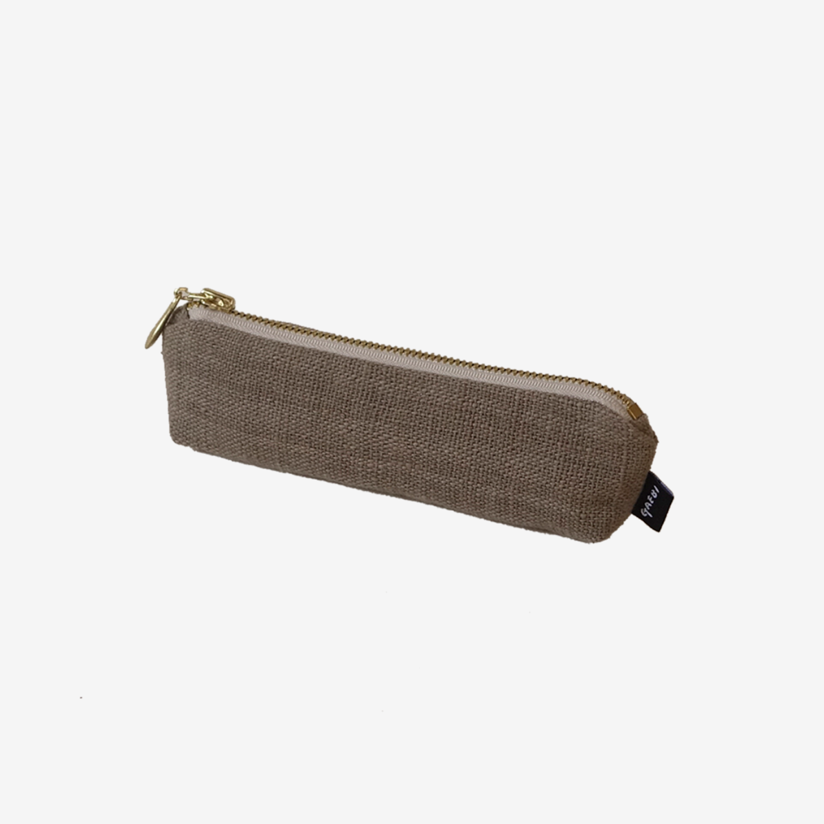 개비 Hand-woven Pencil Case_Guava Grey