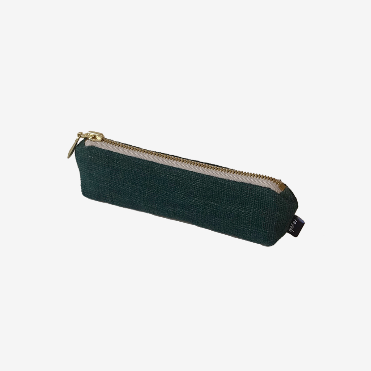 개비 Hand-woven Pencil Case_Deep Green